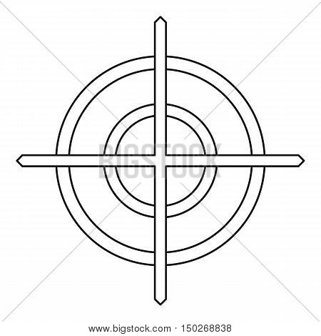 Crosshair icon in outline style on a white background vector illustration