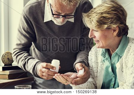 Pill Medicine Illness Health Diagnosis Symptoms Concept