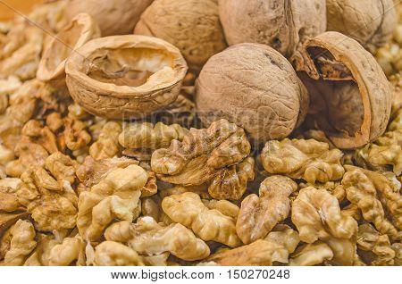 Delicious Walnuts Closeup