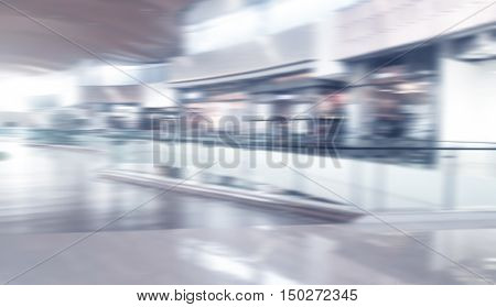 white blurred of department store background. Defocused blur background.