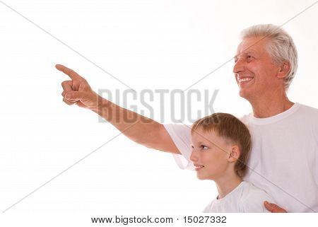 Elderly Man And Boy