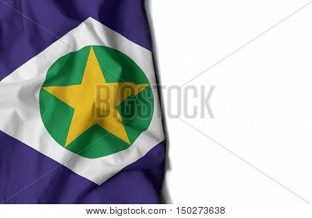 Mato Grosso Wrinkled Flag, Space For Text