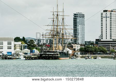 September 2016. Portsmouth UK. HMS Warrior & Portsmouth Hard.