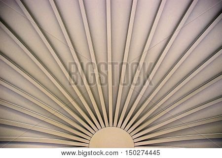 Fanned Awning  - Gradient Grey Sunrise Fan