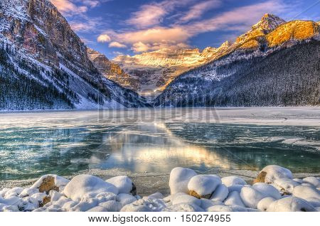 Lake Louise At Daybreak