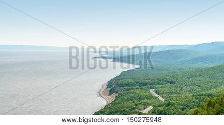 Coastal Scene on the Cabot Trail (Cape Breton Nova Scotia Canada)