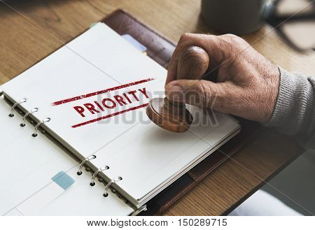 Priority Importance Tasks Urgency Effectively Focus Concept