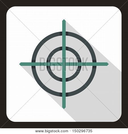 Target crosshair icon in flat style on a white background vector illustration