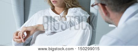 Young Woman In Lethargy