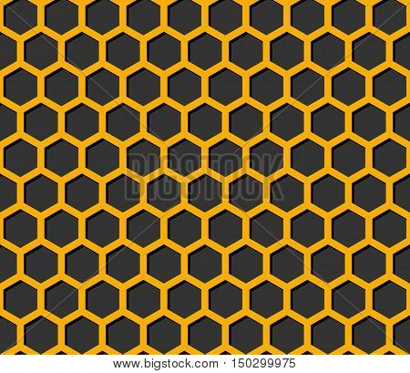Dark Bee's Honeycomb Illustration