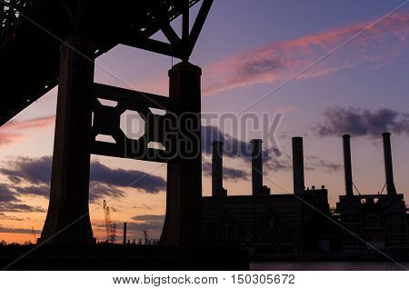 Bridge Silhouette Sunset