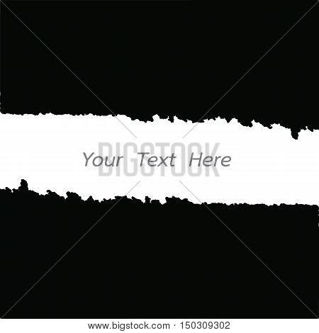 frame border grunge black for your text vector