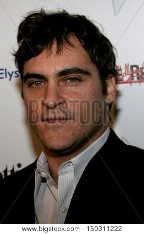 Joaquin Phoenix at the Art of Elysium Presents Russel Young 'fame, shame and the realm of possibility' held at the Minotti Los Angeles in West Hollywood, USA on November 30, 2005.