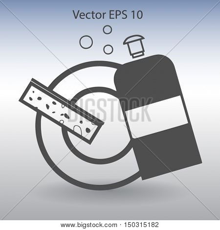 cleanser for dishes vector illustration