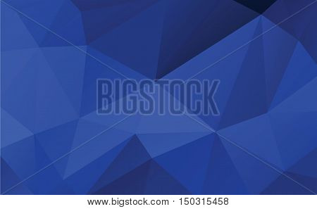 dark blue low poly for background vector