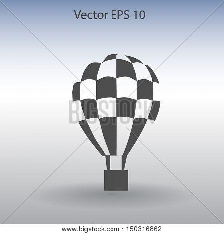 Flat air ballon vector icon