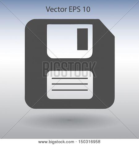 retro computer diskette vector picture