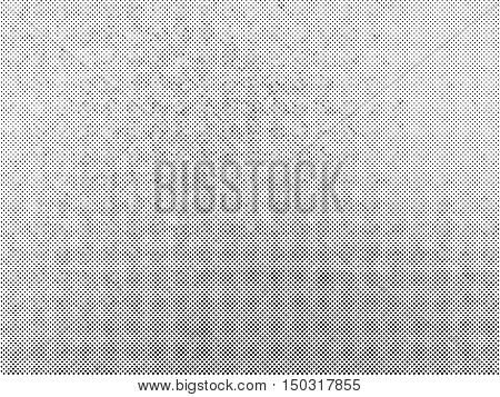 Halftone dots vector texture overlay. Black and white color abstract subtle grainy background.