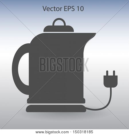teapot with an electric plug vector icon