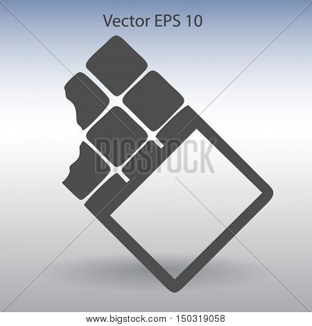 Flat chocolate wrapper icon. Vector