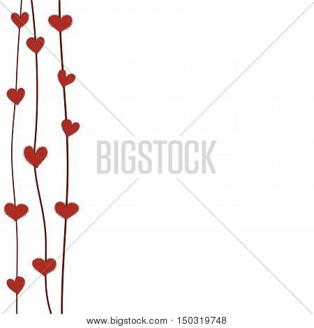 frame red heart background for text flowers