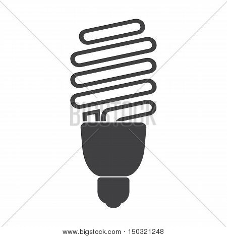 lightbulb black simple icon on white background for web design