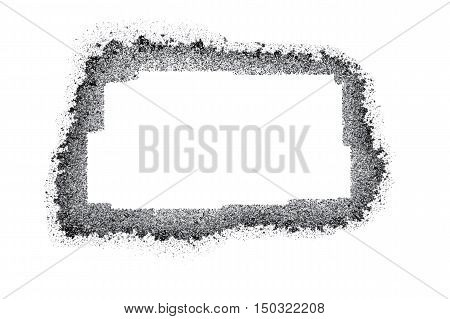 black and gray grunge frame square vector