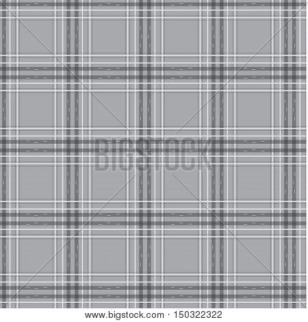 gray and black tartan pattern plate vector