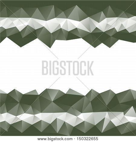 dark green low poly background with white space center vector