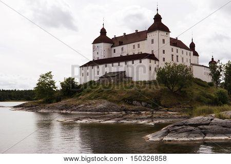 Castle Laeckoe At The Lake Vaenern In Sweden