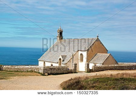 The tip of Van, chapel Saint They (17 th century) (Cléden, Finistère, Brittany, France)