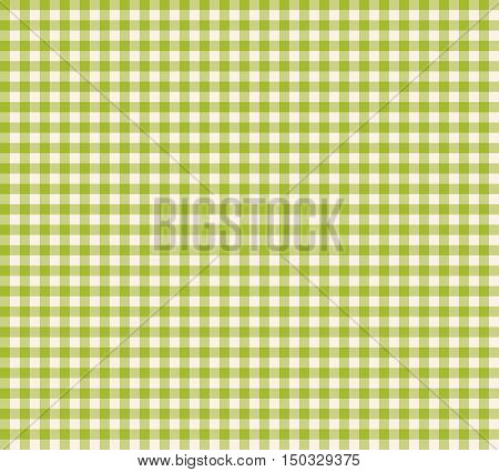 Seamless green checkered tablecloth pattern. Seamless vichy pattern. Background for your design and layout. Vector.
