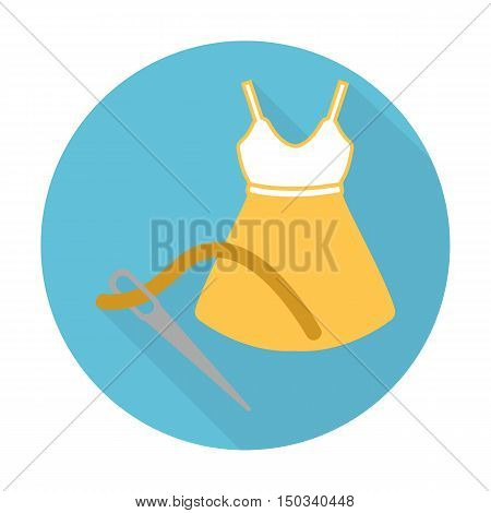 dress flat icon with long shadow for web design