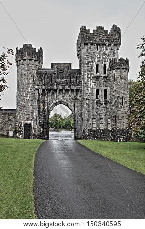 Ashford castle. County Mayo, Ireland - HDR
