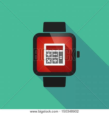 Long Shadow Smart Watch With  A Calculator