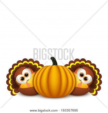 Card for Thanksgiving Day. Thanksgiving celebration design with Turkey.