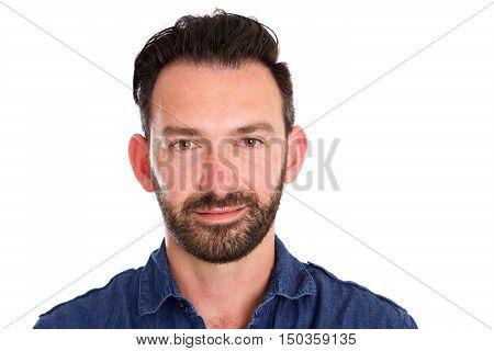 Attractive Caucasian Mature Man With Beard