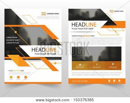 Abstract Orange business Brochure Leaflet Flyer annual report template design book cover layout design abstract business presentation template a4 size design