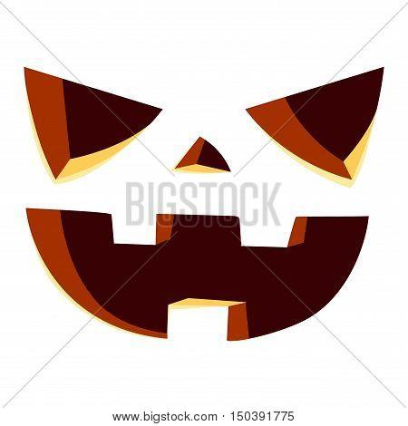 Pumpkin head vector illustration. Pumpkin head isolated on white background. Pumpkin head vector icon illustration. Pumpkin head isolated vector. Pumpkin head silhouette