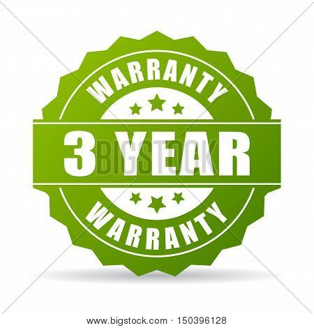 3 years warranty icon vector illustration isolated on white background