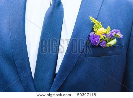 Flower Pocket Groom