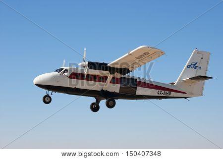 Aircraft De Havilland Canada Dhc-6-100 On Fly