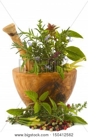 Spices And Herbs. A Variety Of Herbs And Spices.