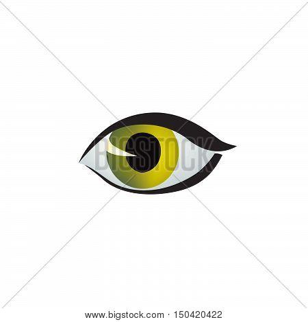 Eye icon. Vector color eye design in cat style. Cat eye style