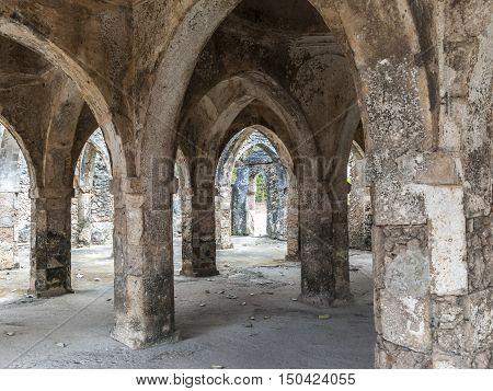 Old Mosque Ruins At Kilwa Kisivani
