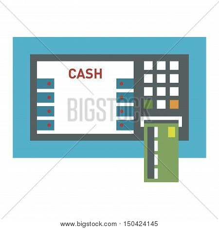 ATM pos-terminal and hand money technology icon. Credit transfer mobile service atm icon money cash credit machine. Money credit currency cash sign atm icon banking payment service