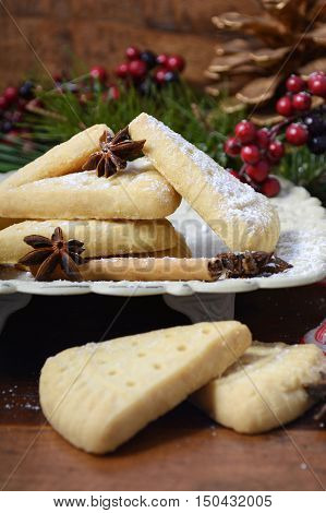Festive Christmas Holiday Shortbread.