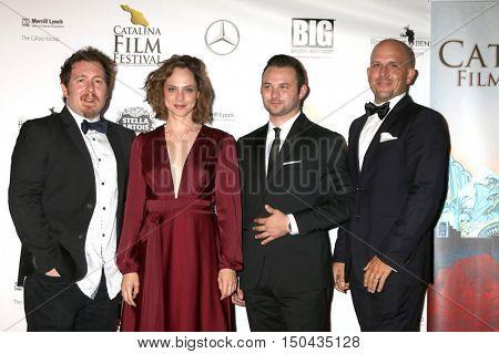LOS ANGELES - OCT 1:  Anthony CiBlasi, Fiona Dourif, Buz Wallick, Adam Barder at the Catalina Film Festival - Saturday at the Casino on October 1, 2016 in Avalon, Catalina Island, CA