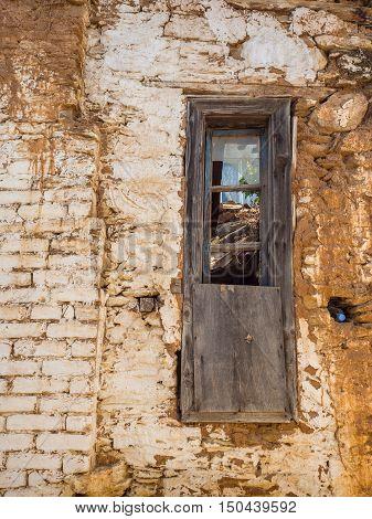 SIRINCE SELCUK TURKEY - SEPTEMBER 13 2016: Old wooden windows in Sirince a Greek village in Turkey.