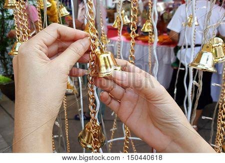 Bell brass for exorcise, knocking them for prayer.